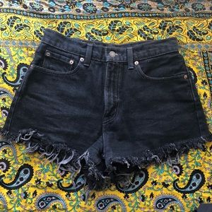 Levi's 561 High waisted cut offs black 28 or 6